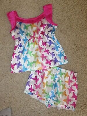 CANDIES GIRL Colorful Satin Butterfly Two-Piece Babydoll PJ Pajama Set GIRLS M 8