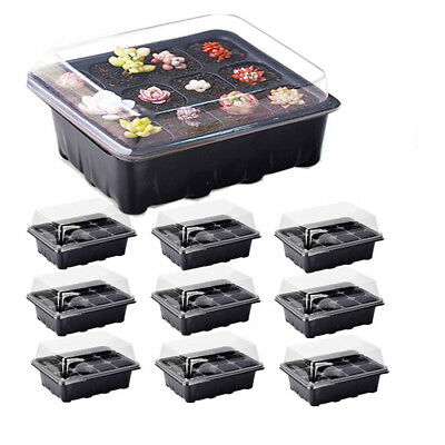 12 Holes Plant Seeds Grow Box Tray Insert Propagation Seeding Case Planter TC
