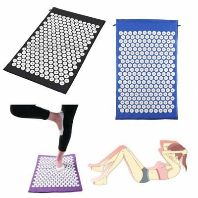 Acupressure Massage Mat Yoga Bed Pilates Nail Needle Pressure Shakti Neck TC
