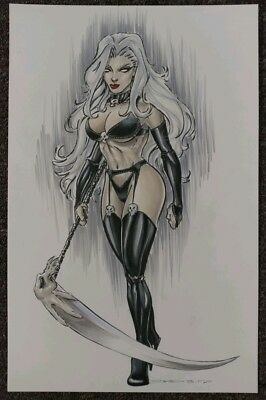original comic art Lady Death