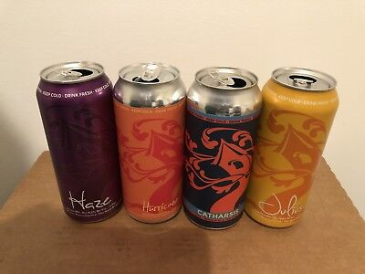4 TREE HOUSE BREWING CO BEER CANS HURRICANE JULIUS CATHARSIS HAZE CAN heady sap