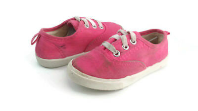 Faded Glory Toddler Girl s Pink Canvas Lace Up Casual Sneaker Shoes US Size  7 C eae1417b268