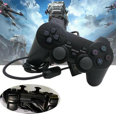 Black Single Shock Wired Game Controller Gamepad Joypad for Sony Playstation 2