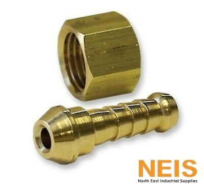 Brass Nut and Tail Air Fitting Jamec Pem Industrial Strength 6mm - 12.5mm BSP