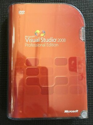 Microsoft Visual Studio 2008 Professional, SKU C5E-00245, Sealed Retail Box,Full