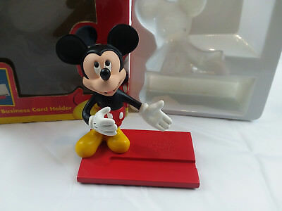 Disney mickey mouse business card holder office desk collection in disney mickey mouse business card holder office desk collection in box vintage colourmoves Gallery