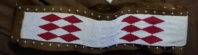 Native American harness leather Heavily Beaded BELT vintage pow wow regalia