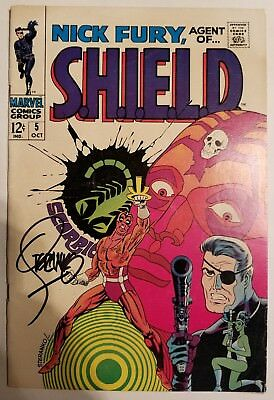 Nick Fury, Agent of SHIELD #5 (Oct 1968, Marvel) signed by Jim Steranko