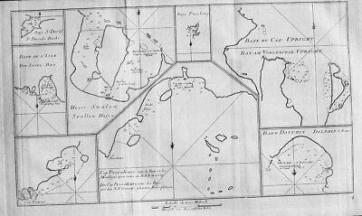 1770 - New Zealand Cape Providence Cook Kupferstich engraving map
