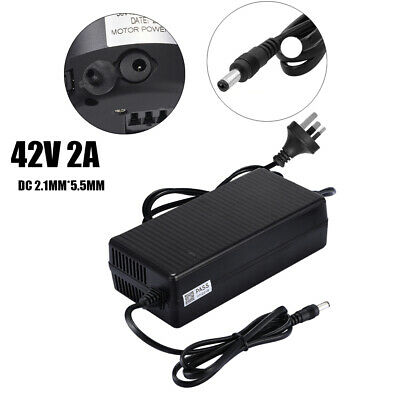 42V 2A Power Adapter Charger DC Head fr 36V 10AH E-bike Battery Electric Bicycle