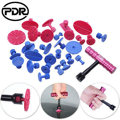 29x PDR Handle T Bar Hammer Paintless Dent Removal Hail Repair Tool Puller Tabs