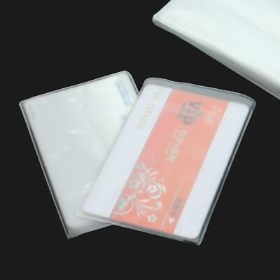 Dustproof 10 Pcs Soft Plastic Clear Credit Card Sleeves Holder Case-Protectors