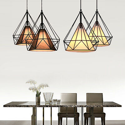 Geometric metal wire frame ceiling lampshade pendant light retro geometric metal wire frame ceiling lampshade pendant light retro fixture fitting keyboard keysfo Choice Image
