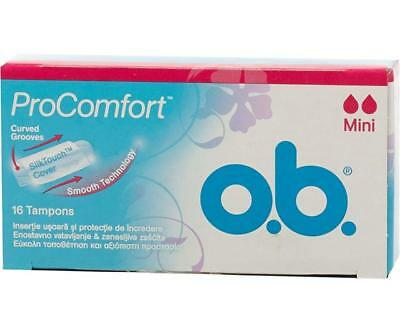 Ob Pro Comfort Tampons Mini 24-48-96-Piece Best Price Deal Free Post Uk Buy New