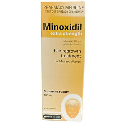 Minoxidil Extra Strength 5% 3 Months Supply 180Ml Hair Regrowth Treatment