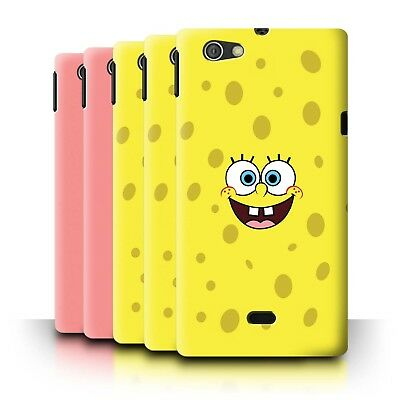 Phone Case/Back Cover for Sony Xperia Miro/ST23I /SpongeBob Inspired Faces