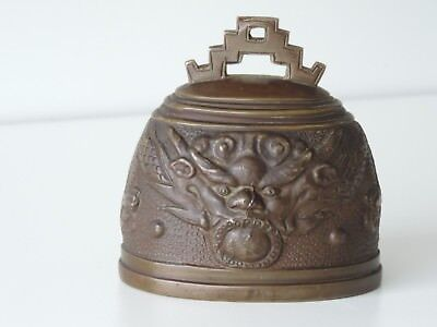 Alte Bronze Glocke China Tibet