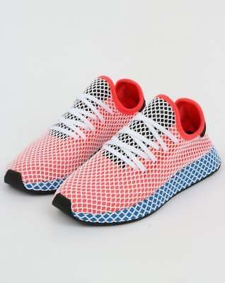 4ae35cfa67708 adidas Deerupt Runner Trainers in Solar Red   Bluebird - adidas Originals  SALE