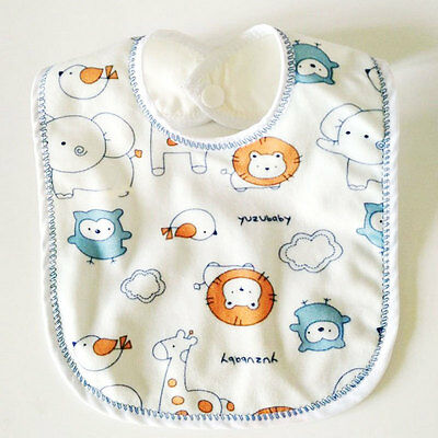 1Pc Water-proof Baby Boy Girl Bibs Newborn Double Layer Infant Burp Cloths New