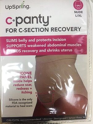 UpSpring Baby C-Panty High Waist Incision Care - NUDE-Large/Extra-Large