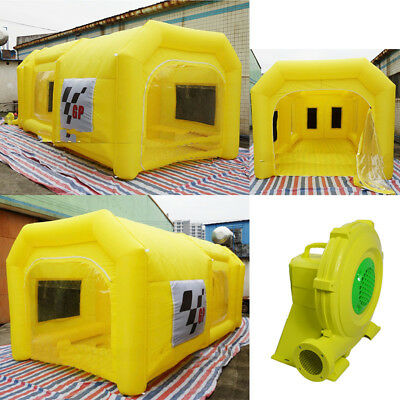 6mx3mx2.5m Giant Car Paint Tent Inflatable Portable Spray Booth With Blower