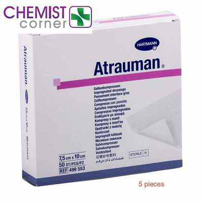 Aquacel/mepitel Dressing Alternative Paul Hartmann ATRAUMAN 7.5cm x 10cm 5pcs