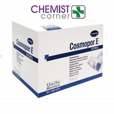 ⭐️SPECIAL OFFER⭐️7.2 x 5cm Cosmopor E Ahesive Surgical Sterile 50 Dressings