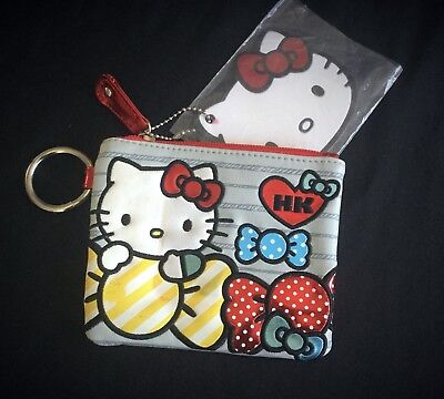 """I Love Candy"" Hello Kitty Coin Purse Key Ring With Tag"