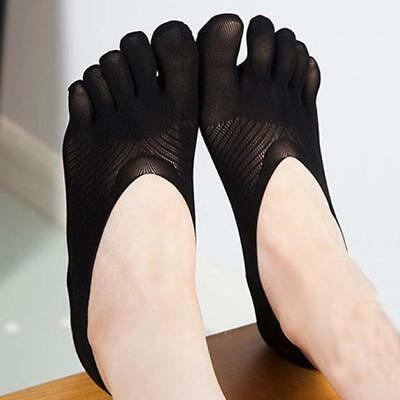 Women Fashion Casual Five Toe Sock Slippers Invisibility For Solid Color Socks