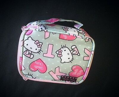 Hello Kitty Portable Cosmetic Bag Zipper Case Solid Perfumes Spiral Notepad -New