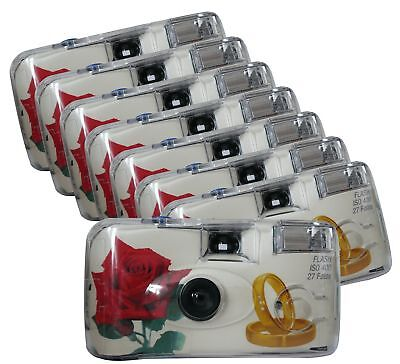 TopShot 376092Golden Roses Disposable 40027with Built-in Flash Pack with 8Cam...