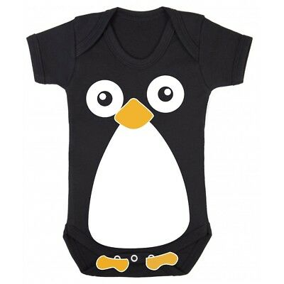 Lil Penguin Cute Baby Vest Gift Idea Adorable Black