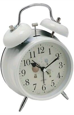 Acctim Redcliffe Hot Air Balloon Twin Bell Vintage Style Alarm Clock New 15152