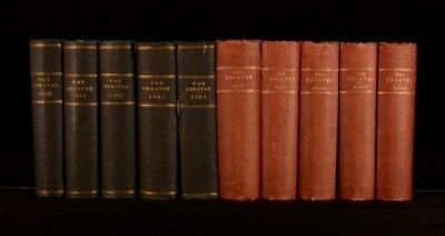 1880-90 10 Vol Clement Scott The Theatre Monthly Review Illustrated First