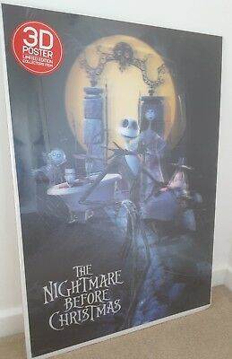 The Nightmare Before Christmas 3D poster, Tim Burton, collector Jack Skellington