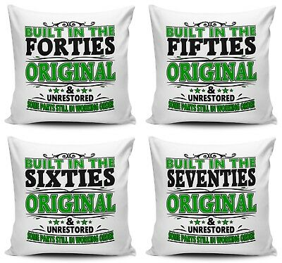 Built In The... Original & Unrestored Funny Cushion Cover Variation - Green