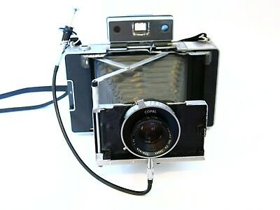 Cool Polaroid 180 Land Camera Conversion with Correct Tominon 114mm f4.5 lens