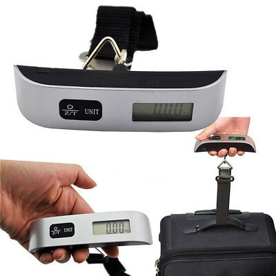 50kg Electronic Digital Weighing Handheld Scale Travel Suitcase Luggage Fast US