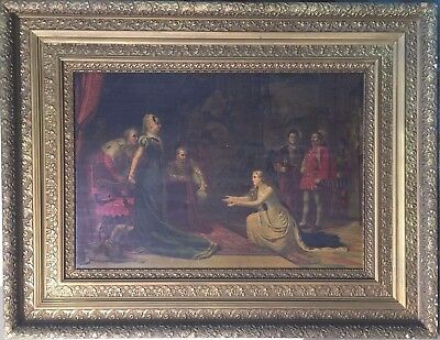"""Gold Gilt Gesso Plaster Embossed Frame- 40""""x52""""x 2 3/4""""  Painting Reproduction"""