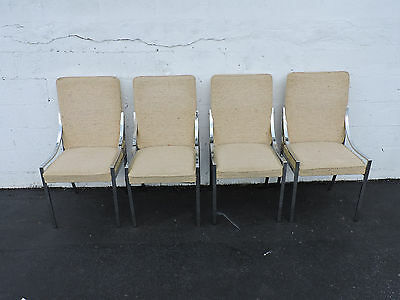 Mid Century Modern Set of 4 Chrome Dining Chairs 6988