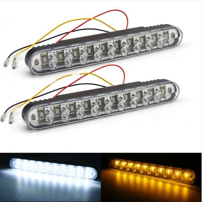 2 X 30 LED Car Truck Daytime Running Light DRL Turn Signal Indicator Fog Lamp UK