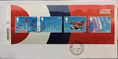 GB 2018 Commemorative Very fine used RAF Centenary Miniature Sheet on Envelope.
