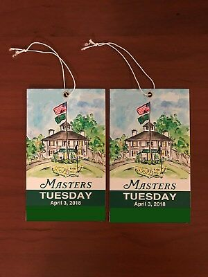 (2) Masters 2018 Tuesday Practice Round Tickets - April 3, 2018 - 4/3/18