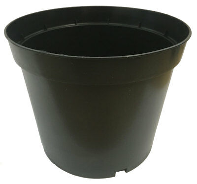 7 5lt Container Nursery Heavyweight Black Plastic Plant Pots X 10