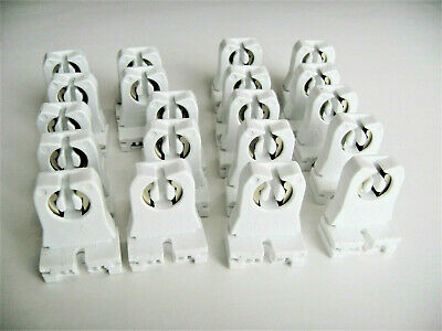 20 of Leviton 13351 Non-Shunted Slide In T8 LED Tombstone Lamp Holder Sockets