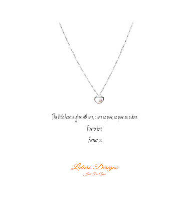 Forever Love Heart Infinity Flowergirl Charm Silver Plated Necklace Gift Card