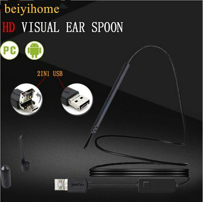 USB Ear Cleaning Endoscope Visual Earpick With Mini Camera Ear Cleaning Tool ZD