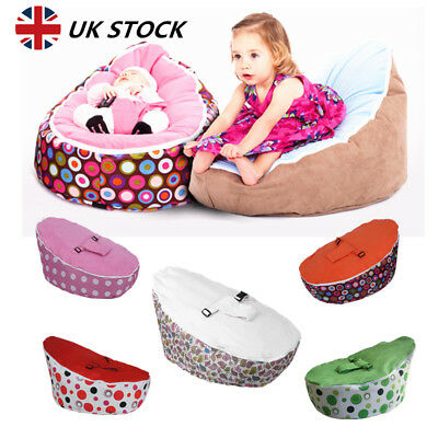 Kids Baby Bean Bag Adjustable Harness Toddler Bouncer Beanbag Bed Chair Seating