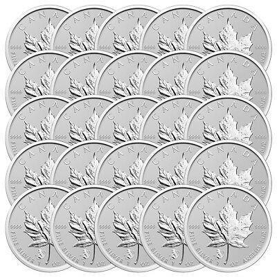 Lot of 25 x 1 oz 2016 Canadian Maple Leaf Year of the Monkey Privy Silver Coin