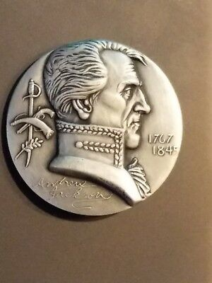 Andrew Jackson Medallic Art Hall Of Fame Great Americans Pure Silver 999 Medal